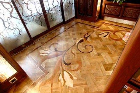 Дворцовый художественный паркет в частном доме