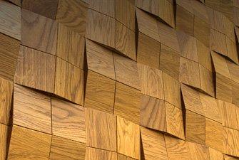 Стеновые панели деревянные из паркета