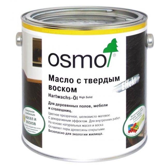 Масло для паркета osmo с твердым воском 3011 бесцветное глянцевое