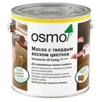 Масло для паркета osmo с твердым воском цветное 3040 белое