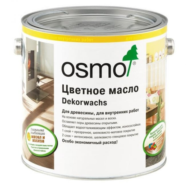 Масло для паркета osmo цветное DEKORWACHS 3103 дуб светлый