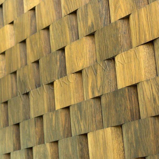 Деревянные стеновые панели 3d мозаика Дэшон