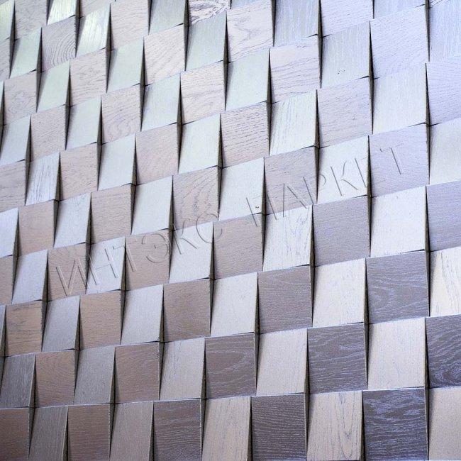 Деревянные стеновые панели 3d мозаика Тория