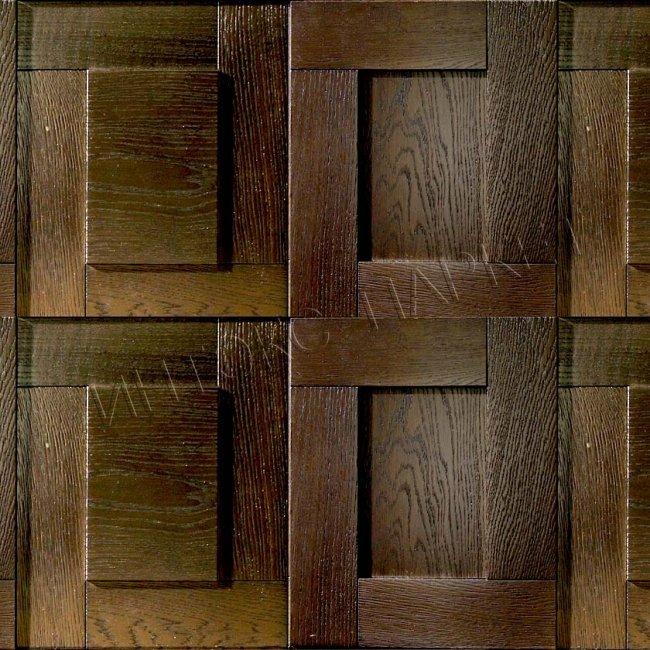 Деревянные стеновые панели 3d мозаика Тринити