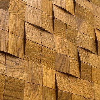 Деревянные стеновые панели 3d мозаика Дэнсон
