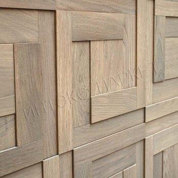 Деревянные стеновые панели 3d мозаика Джэмини
