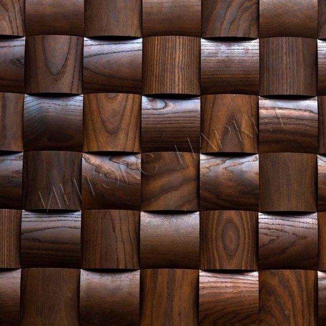 Деревянные стеновые панели 3d мозаика Синтия