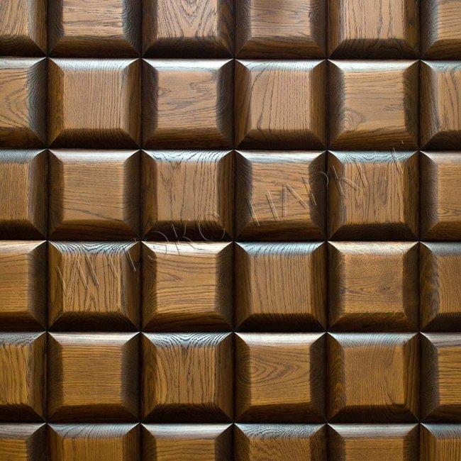 Деревянные стеновые панели 3d мозаика Грэди