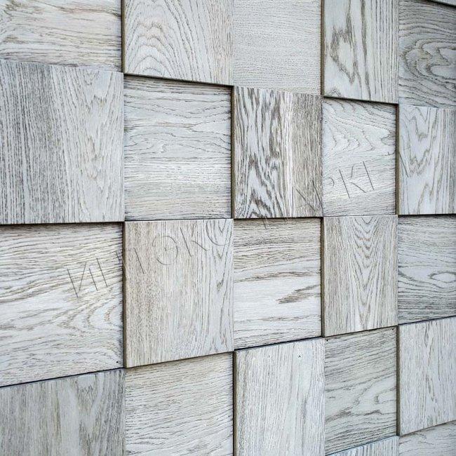 Деревянные стеновые панели 3d мозаика Лакрес